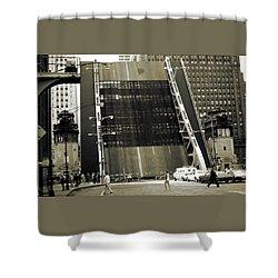 Old Chicago Draw Bridge - Vintage Photo Art Print Shower Curtain