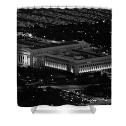 Chicago Field Museum Bw Shower Curtain