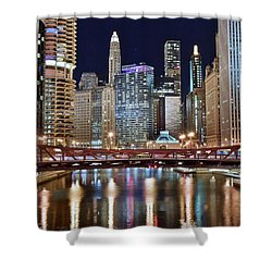 Chicago Full City View Shower Curtain