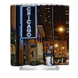 Shower Curtain featuring the photograph Chicago Hotel by Frozen in Time Fine Art Photography