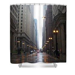 Chicago In The Rain 2 Shower Curtain by Anita Burgermeister