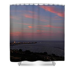 Chicago Lakefront At Sunset Shower Curtain