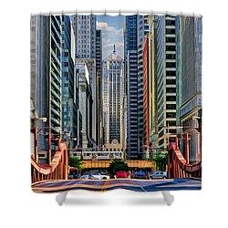 Chicago Lasalle Street Shower Curtain