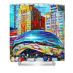 Chicago Millennium  Shower Curtain