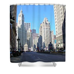 Chicago Miracle Mile Shower Curtain by Anita Burgermeister