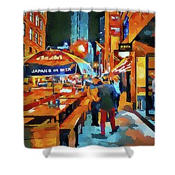 Chicago Night Time Shower Curtain