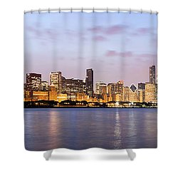 Chicago Panorama Shower Curtain by Paul Velgos