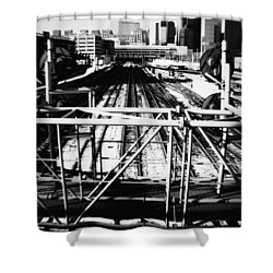 Chicago Railroad Yard Shower Curtain