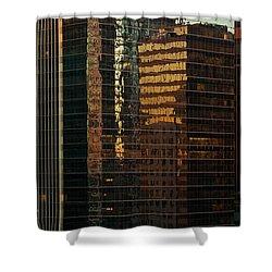 Chicago Reflected Shower Curtain by Steve Gadomski
