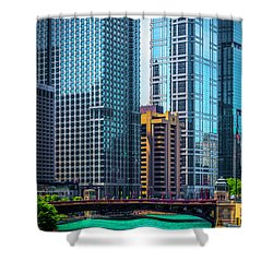 Chicago River From Michigan Ave Dsc2107 Shower Curtain by Raymond Kunst