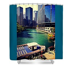 City Of Chicago - River Tour Shower Curtain