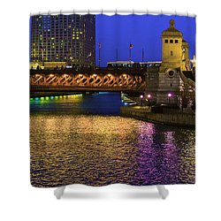 Chicago River Ver2 Shower Curtain
