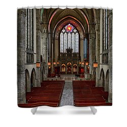 Chicago Rockefeller Chapel Shower Curtain by Mike Burgquist