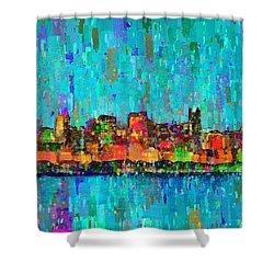Chicago Skyline 207 - Pa Shower Curtain