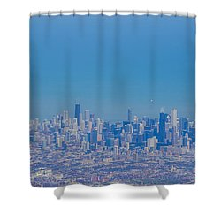 Chicago Skyline Aerial View Shower Curtain