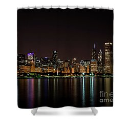 Shower Curtain featuring the photograph Chicago Skyline by Andrea Silies