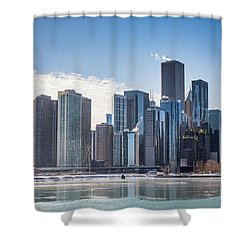 Chicago Skyline Shower Curtain