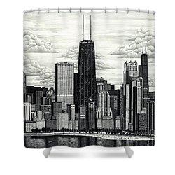 I Love Chicago Volume 1 Shower Curtain
