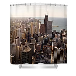 Chicago Shower Curtain by Steve Gadomski