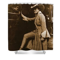 Chicago Suffragette Marching Costume Shower Curtain