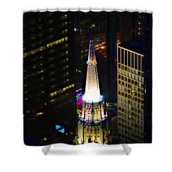 Chicago Temple Building Steeple Shower Curtain