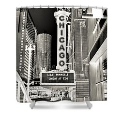 Chicago Theater - 2 Shower Curtain by Ely Arsha