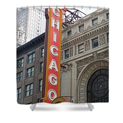 Chicago Theater Sign Shower Curtain by Lauri Novak