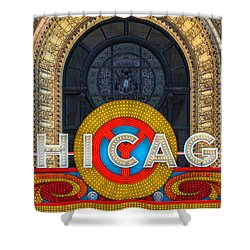 Chicago Theatre Sign Dsc2176 Shower Curtain by Raymond Kunst