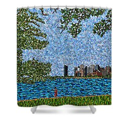 Chicago - View From Lakefront Trail Shower Curtain by Micah Mullen