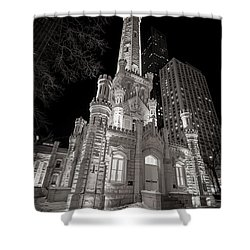 Chicago Water Tower Shower Curtain by Adam Romanowicz