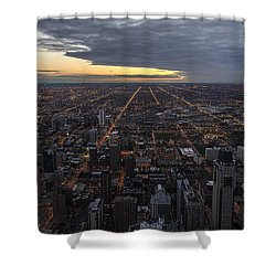 Shower Curtain featuring the photograph Chicago Westward by Steven Sparks