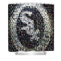 Chicago White Sox Ring Mosaic Shower Curtain by Paul Van Scott