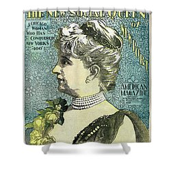 Shower Curtain featuring the photograph Chicago Woman Conquers New York's 400  1898 by Daniel Hagerman