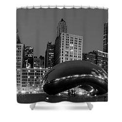 Chicago's Cloud Gate Bean Shower Curtain