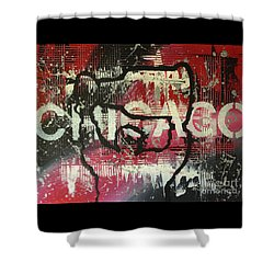 Chicago's Cup Shower Curtain by Melissa Goodrich