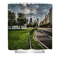 Chicago's Lake Shore Drive Shower Curtain