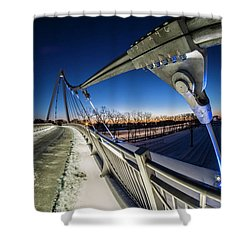 Chicago's New 35th Street Ped Bridge At Dawn Shower Curtain