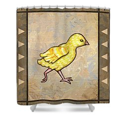 Chick Four Shower Curtain by Linda Mears