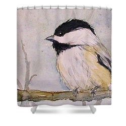 Chickadee Dee Dee Shower Curtain