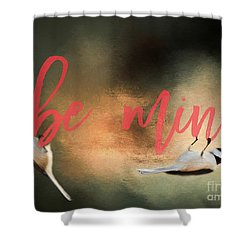 Shower Curtain featuring the photograph Chickadee Love by Darren Fisher