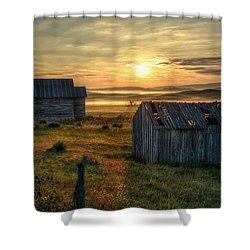 Chicken Creek Schoolhouse Shower Curtain