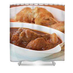 Shower Curtain featuring the photograph Chicken Massaman Curry by Atiketta Sangasaeng