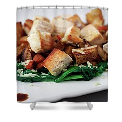 Chicken N Hash Shower Curtain