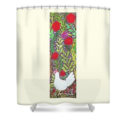 Chicken With An Attitude In Vegetation Shower Curtain