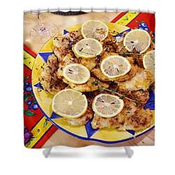 Chicken With Lemon Shower Curtain
