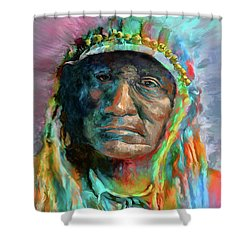Chief 2 Shower Curtain by Rick Mosher
