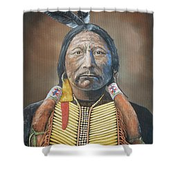 Chief Buckskin Charley Shower Curtain by Jerry McElroy