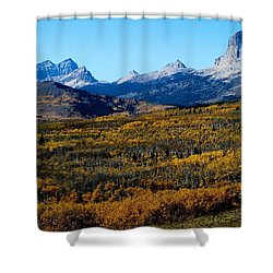 Chief Mountain In The Fall Shower Curtain