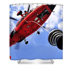 Chief Petty Officer Looks Out The Door Shower Curtain by Stocktrek Images