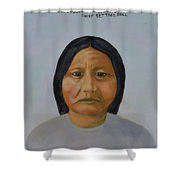Chief Setting Bull Shower Curtain
